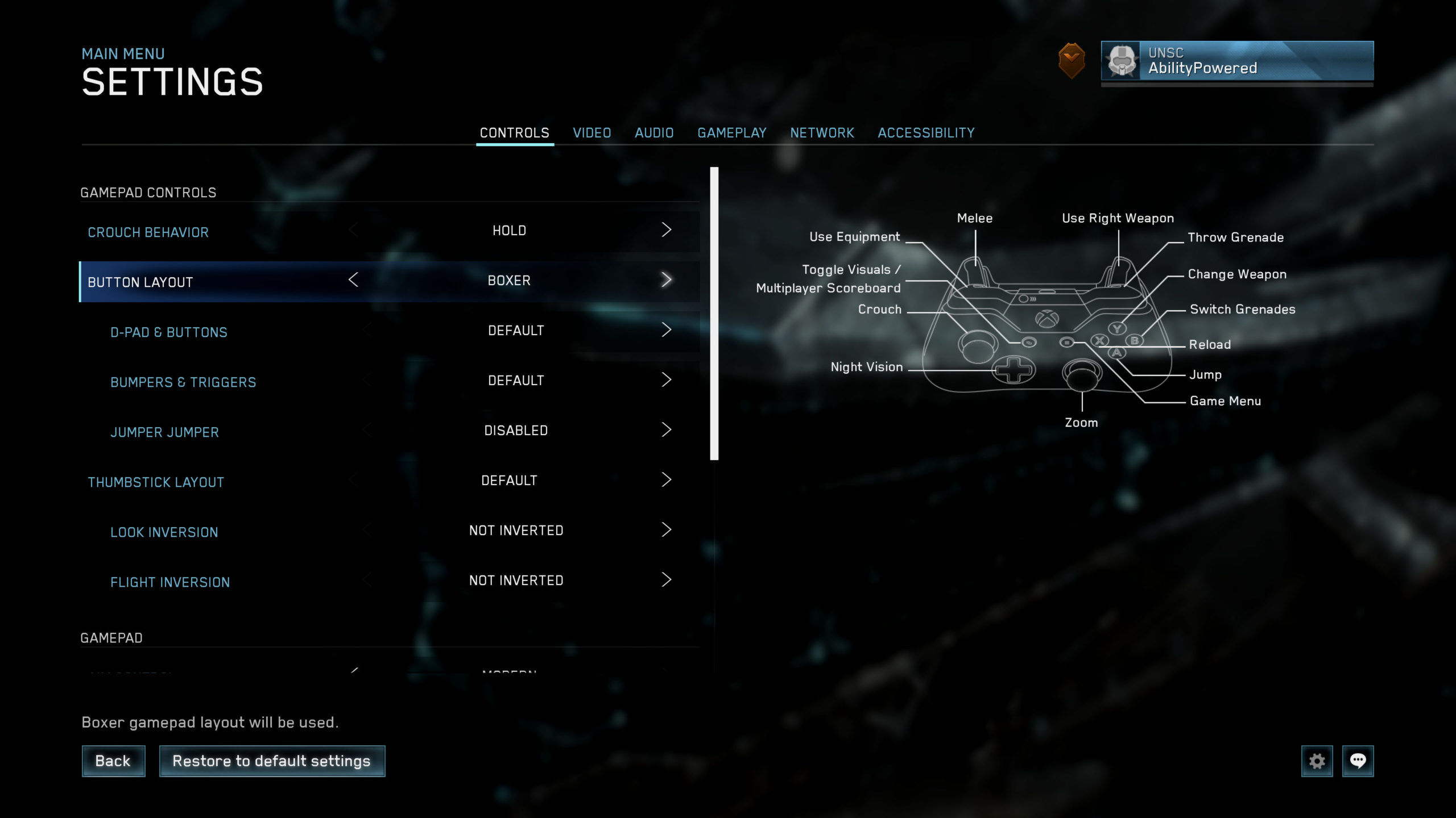 Halo Master Chief Collection Options For Accessibility